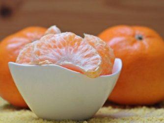 bowl of peeled tangerines