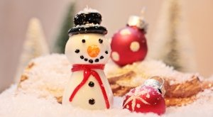 holiday ornaments with snowman