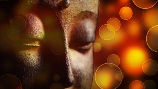 Buddha with lights