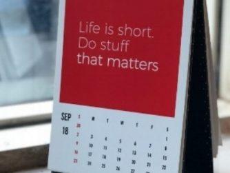 Life is short do stuff that matters calendar