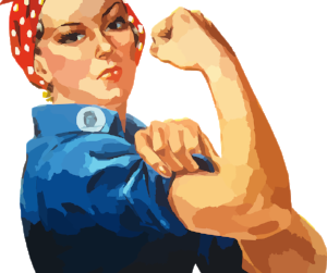 drawing of a woman with bent arm