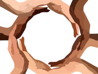 circle hands healing